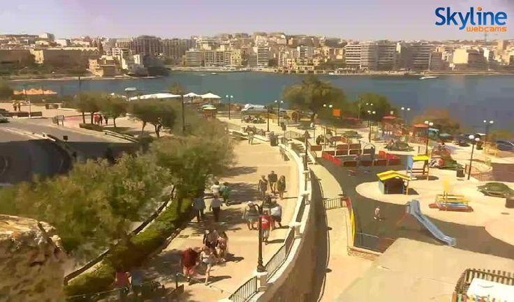 Live Cam St. Julian's Bay and Tower Road at Sliema