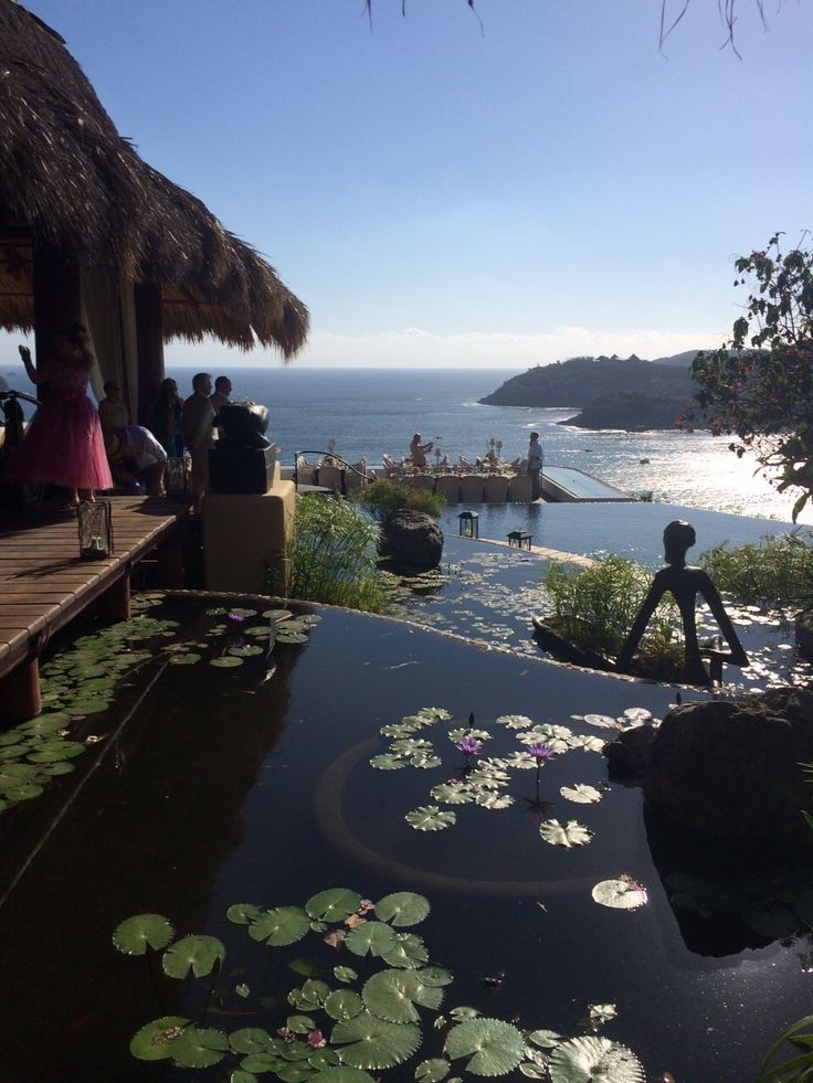 Hotel Tentaciones, view into the Pacific. Ixtapa Zihuatanejo México. Breathtaking