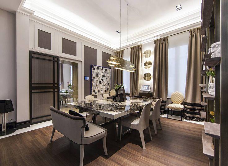 El comedor privado era una zona íntima con capacidad para 12 personas y con una decoración sobria y elegante. #details #diningroom #homedecor #decoracion #diseño #interiorismo #deco #decoracion