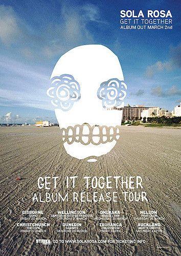 https://flic.kr/p/6Jeri9 | Get It Together Mar/Apr 09 NZ Tour Poster | Hamish Kuka