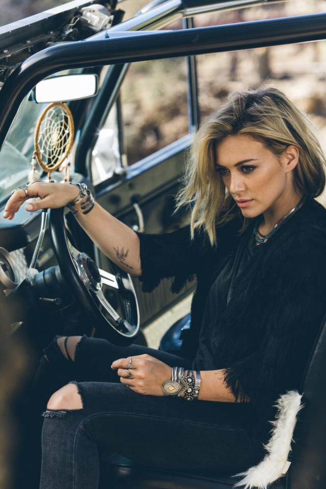 Hilary Duff Photoshoot outtake for her new album.