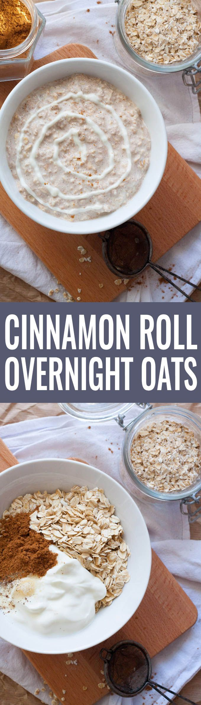 Cinnamon Roll Overnight Oats