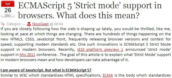 """ECMAScript 5 'Strict mode' support in browsers. What does this mean? 