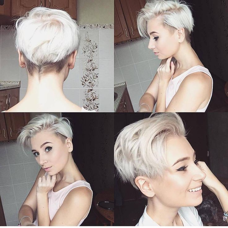 All sizes | Messy Side Parted Undercut Pixie with Platinum Color | Flickr - Photo Sharing!