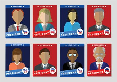 Get the latest election news, meet the candidates, and learn about the democratic process with this exciting, educational site for grades 1–6.