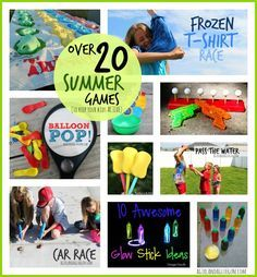 over 20 outdoor summer games to keep your kids active!