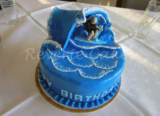surfing cakes | Cakes of Your Desire For Any Occasion | Reverie Cakes