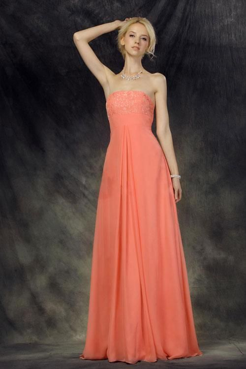 (CLICK IMAGE TWICE FOR DETAILS AND PRICING) Graceful A-line Strapless Floor-length Chiffon Prom Dress SAL1719-TB -TB  - See More Sweetheart Womens Dresses at http://www.zbrands.com/Sweetheart-Womens-Dresses-C61.aspx