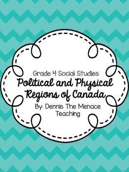 Grade 4 Political and Physical Regions of Canada Unit
