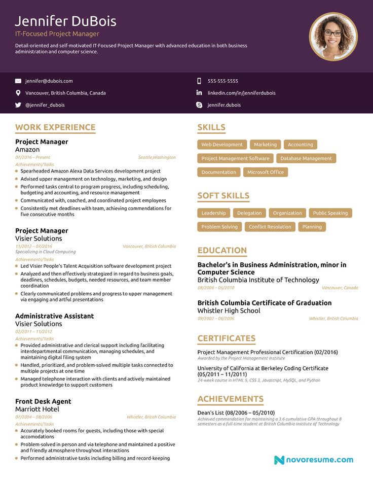 10+ Manager resume examples 2019 ideas in 2021