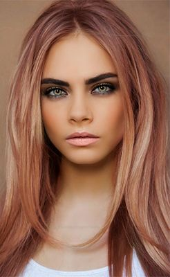 rose-gold hair. I think that's the color I want for Summer 2015.