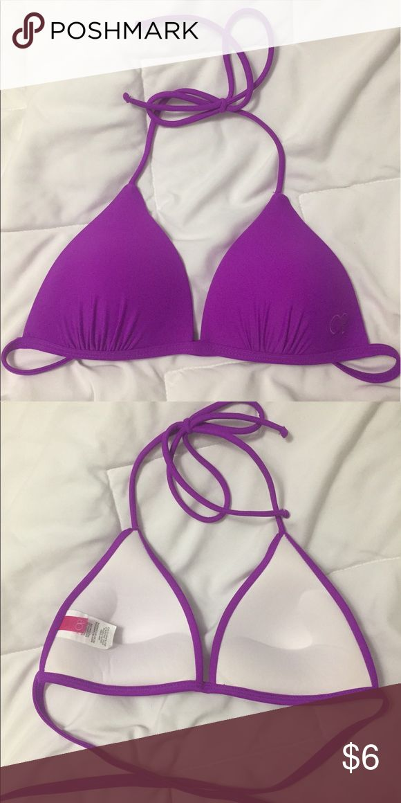 Bright Purple Triangle Bikini Top (push-up) Push up triangle top Swim Bikinis