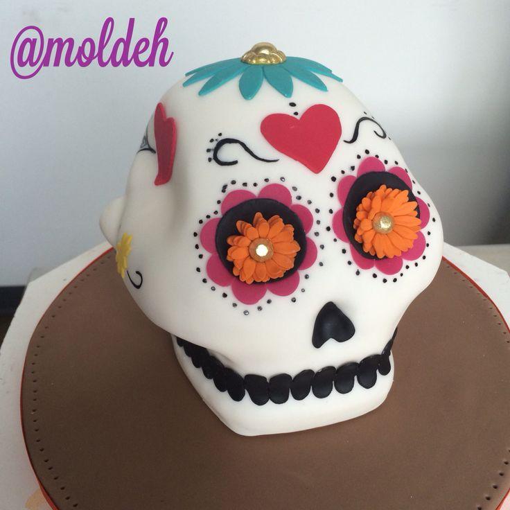 Pastel de calaverita para Día de Muertos