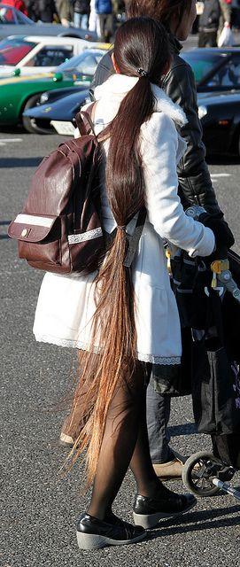 Long Hair And White Wool Coat by ribbon_satin, via Flickr