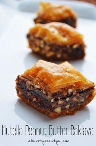 Nutella and Peanut Butter Baklava - A Burst of Beautiful