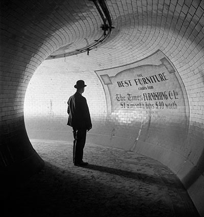 British Museum Underground Station, 1937 London advertising poster