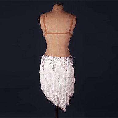 Λάτιν Χοροί Φορέματα Γυναικεία Παράσταση Spandex 1 Τεμάχιο Αμάνικο Φυσικό Φόρεμα 5453086 2017 – €80.08