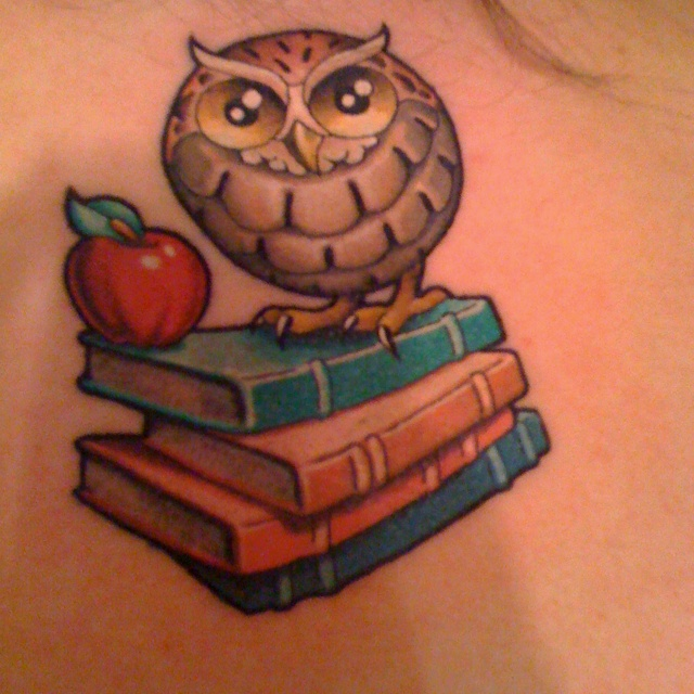 Love this idea as a memorial piece for my grandma who collected owls and was a teacher her whole life.
