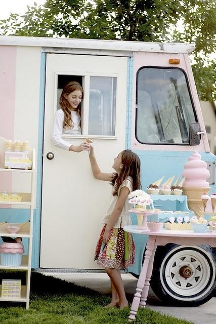 Vintage ice cream party via www.karaspartyideas.com