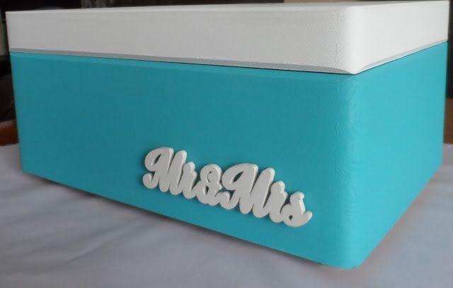pudełko na koperty, tiffany blue,