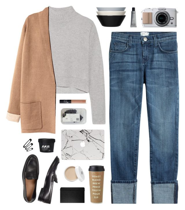 Cappuccino by nauditaolivia on Polyvore featuring polyvore fashion style Line Current/Elliott NARS Cosmetics Kate Spade iittala Moleskine clothing