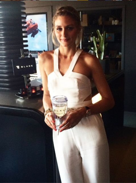 Olivia Palermo at Revolve Hamptons House on Saturday July 24th 2015 in Sagaponack, New York.