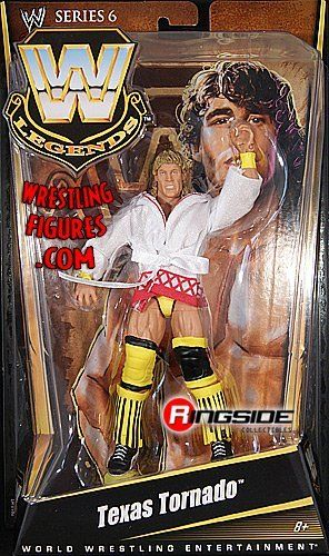 TEXAS TORNADO - WWE LEGENDS 6 WWE TOY WRESTLING ACTION FIGURE by MATTEL. $19.99. TEXAS TORNADO - WWE LEGENDS 6 WWE TOY WRESTLING ACTION FIGURE