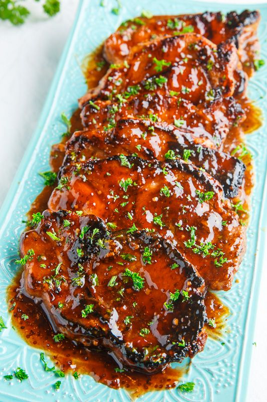 Balsamic Honey and Mustard Pork Chops. *Click image for recipe.