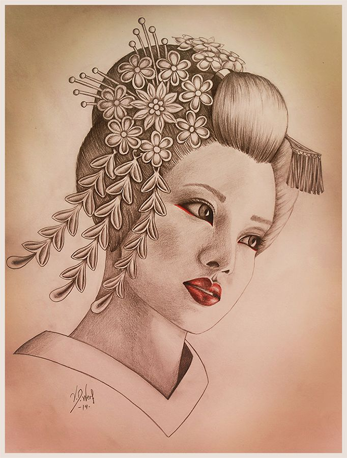 Geisha by Melina-van-der-Werf on DeviantArt