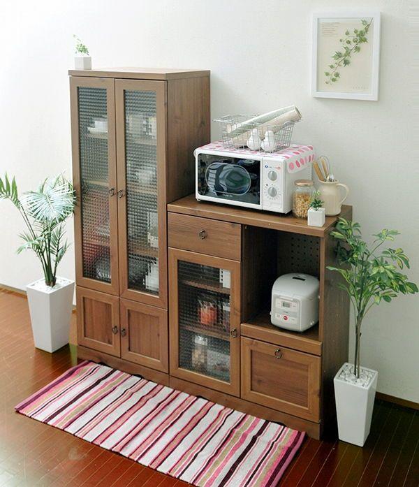 食器棚.com|一人暮らしインテリアのジパング.com |1ページ目 ビストロ【Bistro】 キッチン収納シリーズのイメージ