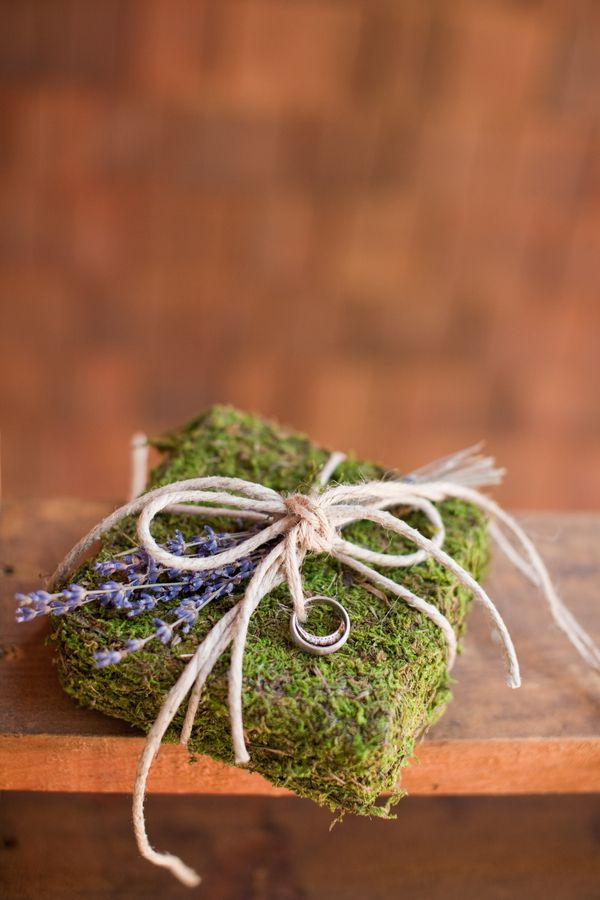 moss twine and lavender ringbearer pillow