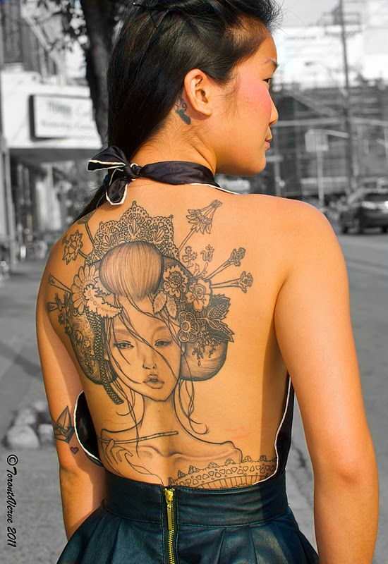Tattoo Lust: Audrey Kawasaki Tattoos | Fonda LaShay // Design → more on fondalashay.com/blog