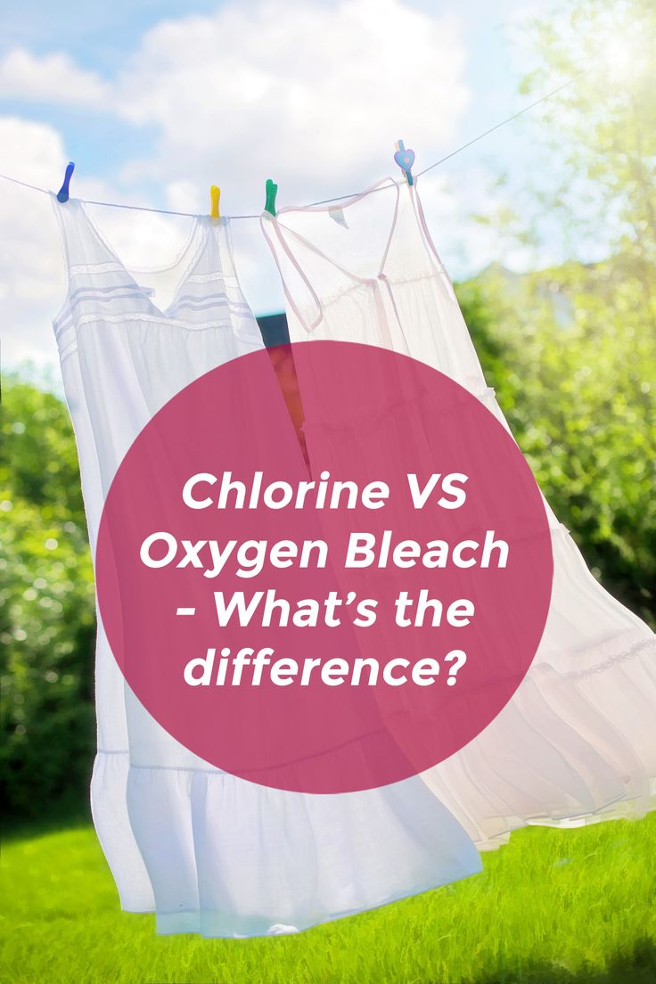 Chlorine vs Oxygen bleach - what's the difference?