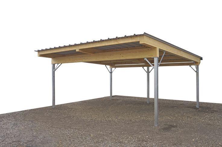 Stahl und Holz CARPORT in perfektem Einklang  Einzel- oder Doppelcarport wo die Steher zwar aus Stahl, die Dachkonstruktion jedoch aus Holz besteht. In dieser Kombination ergänzen sich zwei langlebige, robuste und moderne Materialien einfach perfekt!