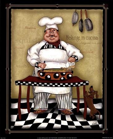 Stirring Chef by Dena Marie art print