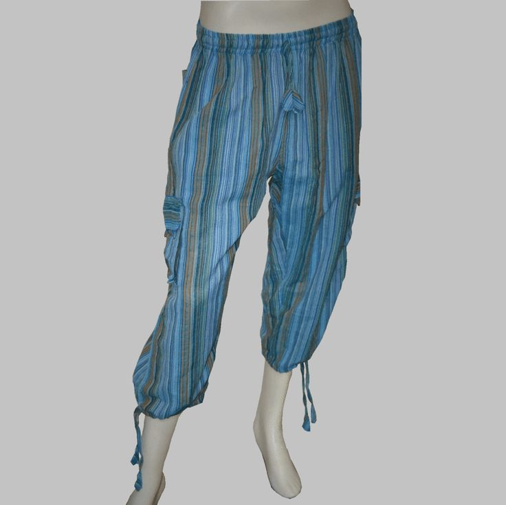 Striped Nepalese Three-Quarter Pants