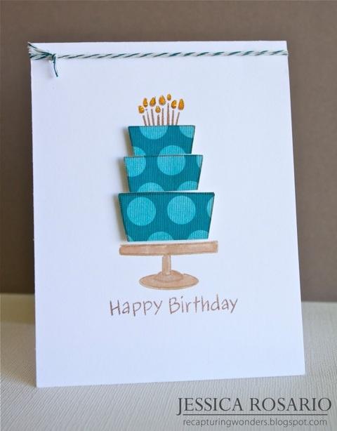 biglietto compleanno con torta