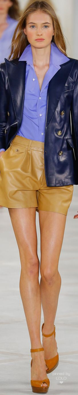 RALPH LAUREN SPRING 2016 RTW women fashion outfit clothing style apparel @roressclothes closet ideas