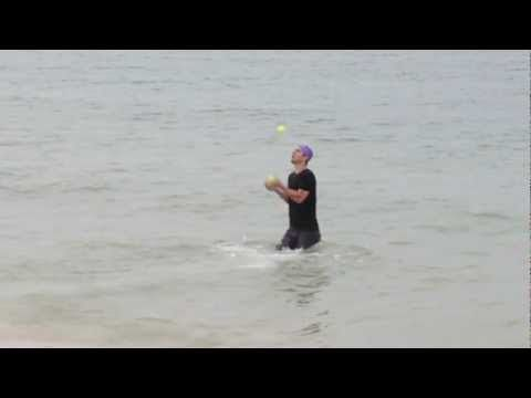 Triathlon juggling world record!