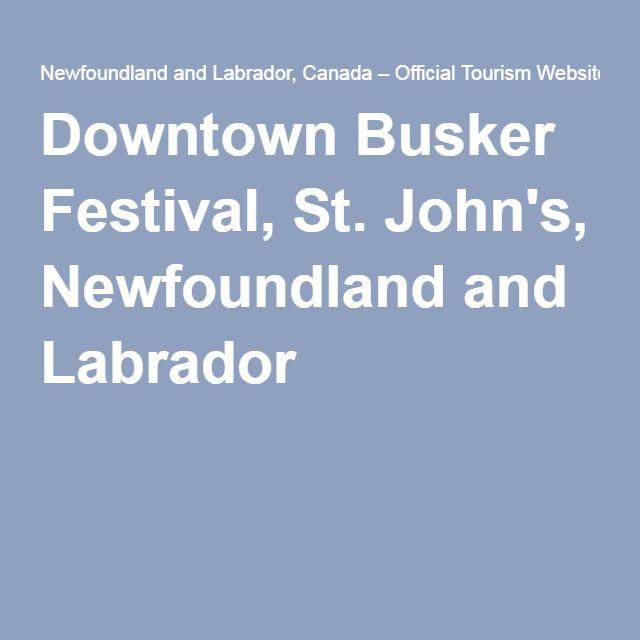 Downtown Busker Festival, St. John's, Newfoundland and Labrador