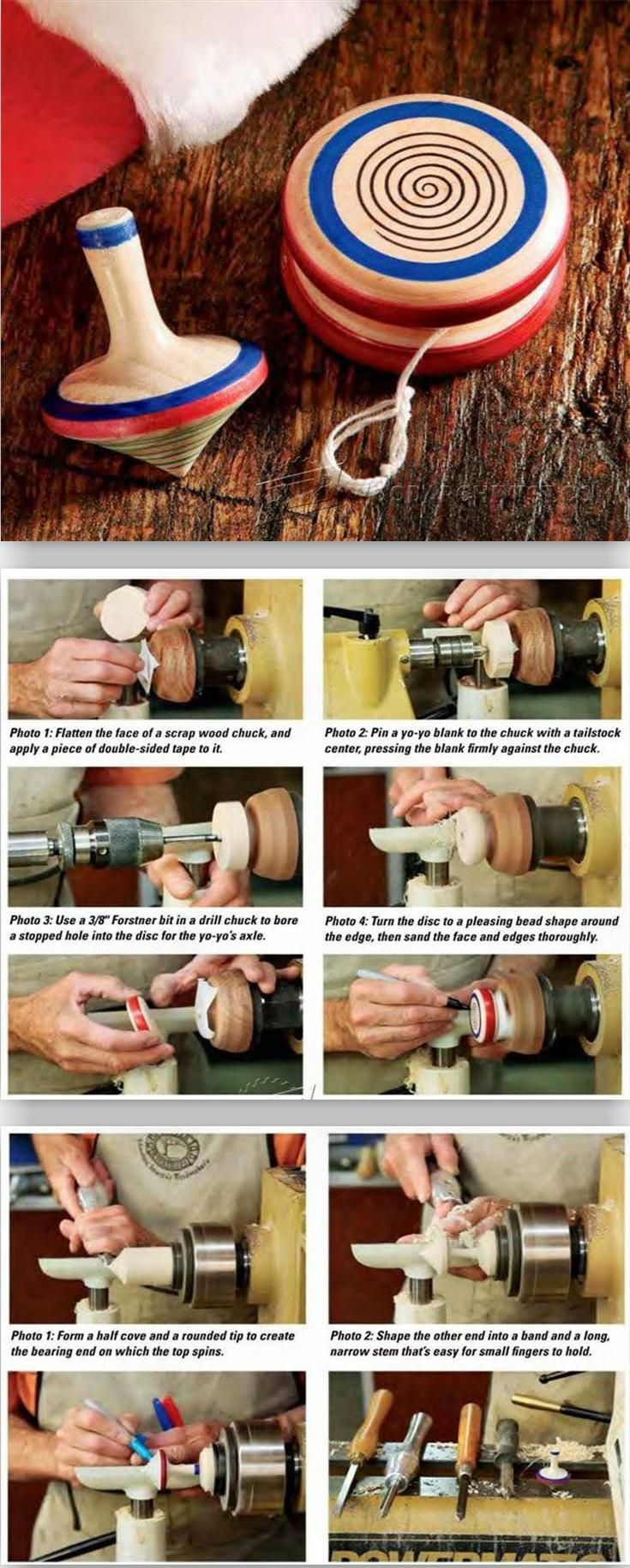 Woodturning Yo-Yo and Spinning Top - Children's Wooden Toy Plans and Projects | WoodArchivist.com