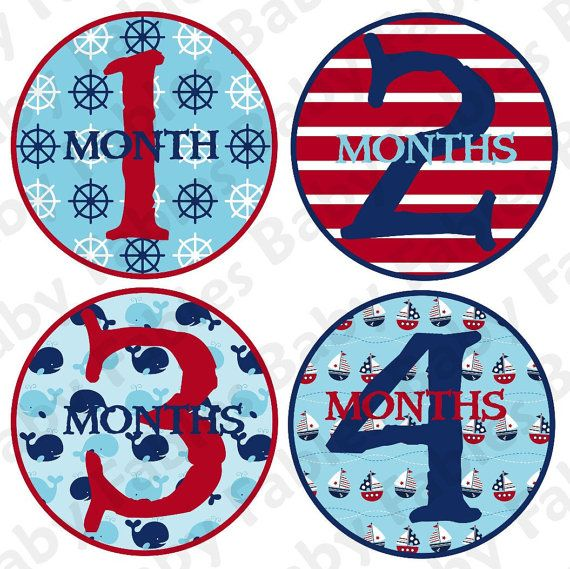 Monthly Baby Stickers  Set Sail by babyfables on Etsy, $8.75