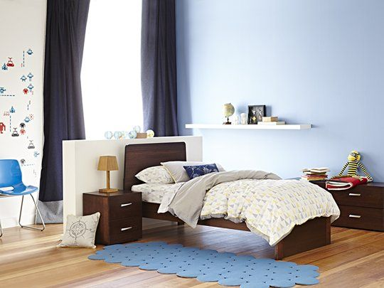 My Design Single Bed Frame (tapered headboard & full panel base) main product image 1