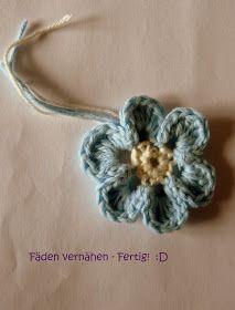 Blumen häkeln, Häkelblumen, Blümchen häkeln