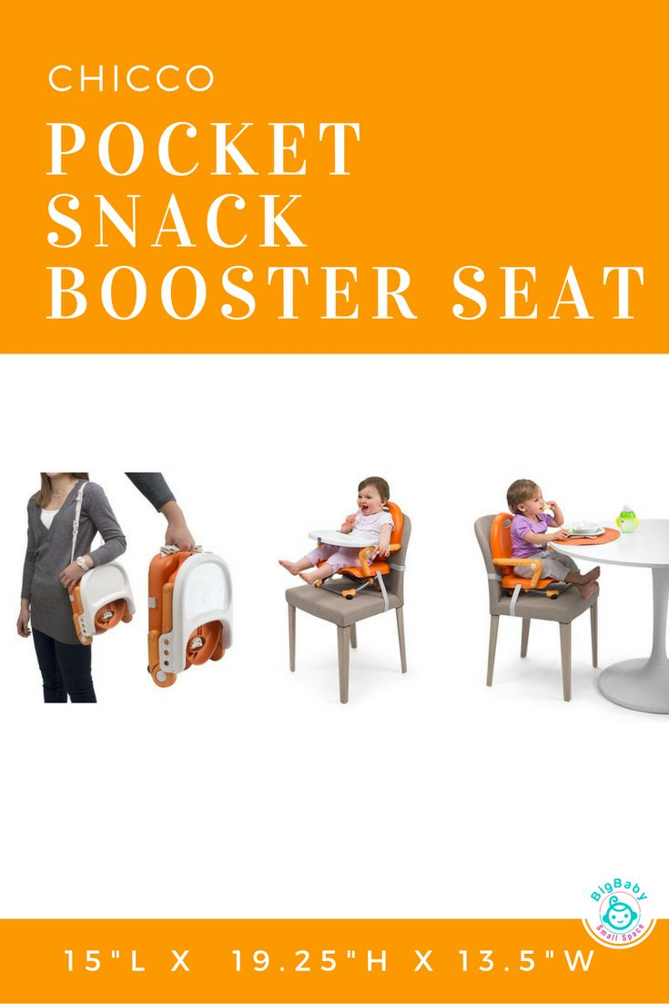 TheChicco Pocket Snack Portable Booster Seat Is The Perfect Way To Bring  Children To The Table