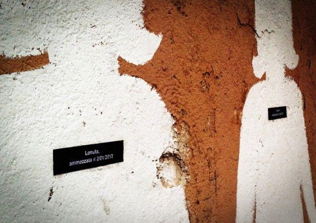 Roma, il graffito contro il femminicidio