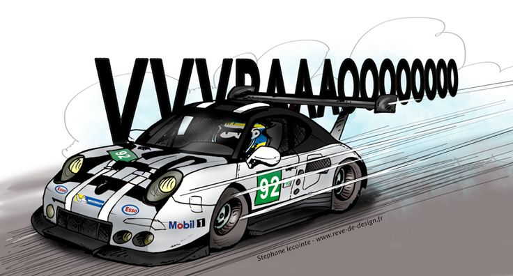 Illustration Porsche 911 RSR 24h du Mans 2016