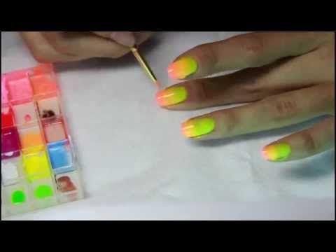 """омбре гель-лаком или градиентный маникюр /How to do """"ombre"""" gel nails, gradient Gel Polish - YouTube"""