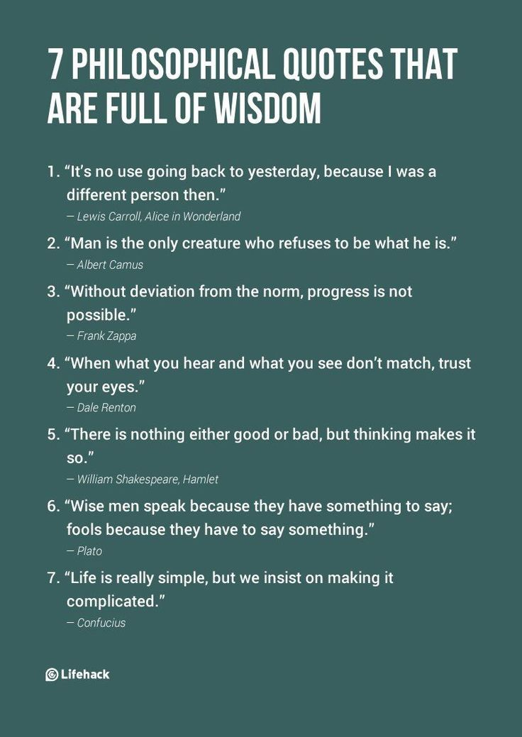 These philosophical quotes will give you ideas about the ...