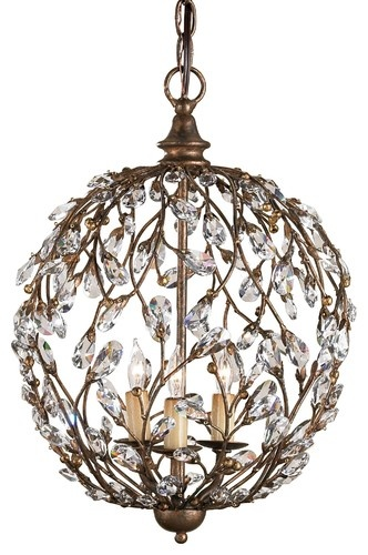 Currey & Co Crystal Bud Sphere Chandelier traditional chandeliersBud Sphere, Dining Room, Decor Ideas, Lights Fixtures, Trav'Lin Lights, Company Crystals, Sphere Chandeliers, Crystals Bud, Currey